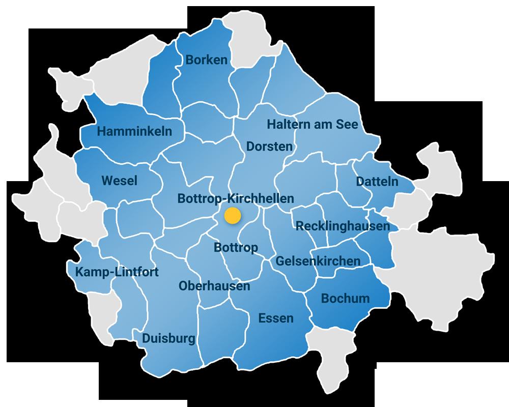 SIEBE Gebäudereinigung OHG Einzugsgebiet Karte 1