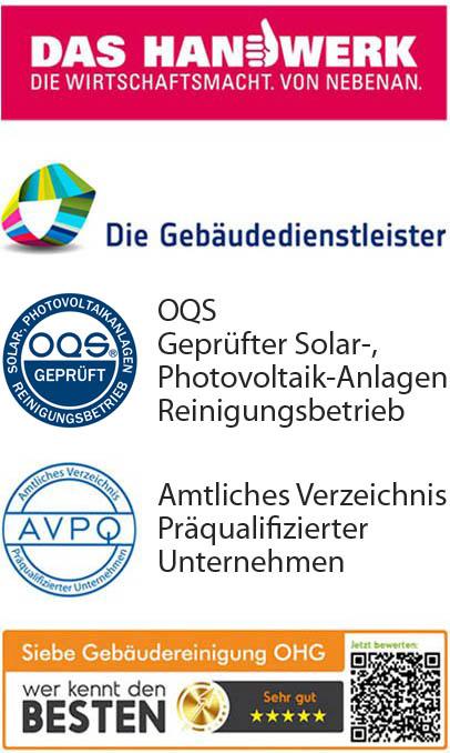 das Handwerk | die-gebaeudedienstleister | oqs | avpq | die-besten logos